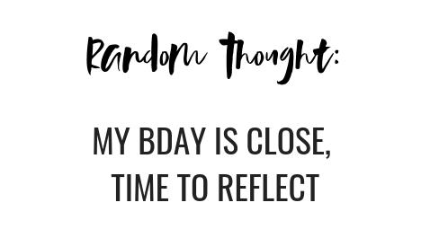 few days till my birthday